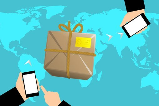 Ecommerce, Shipping, Globe, Trade, Map