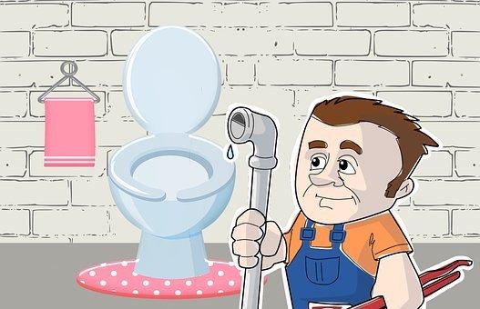Plumber, Bathroom, Fix, Working, Man
