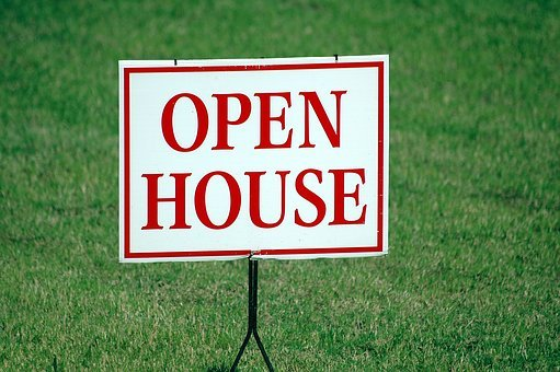 Open House, Sign, For Sale, Real Estate