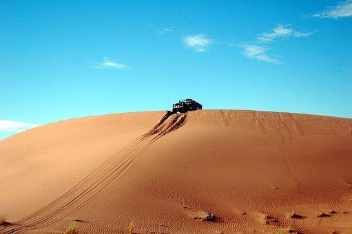 Desert, Sand, Rally, Dunes, Landscape